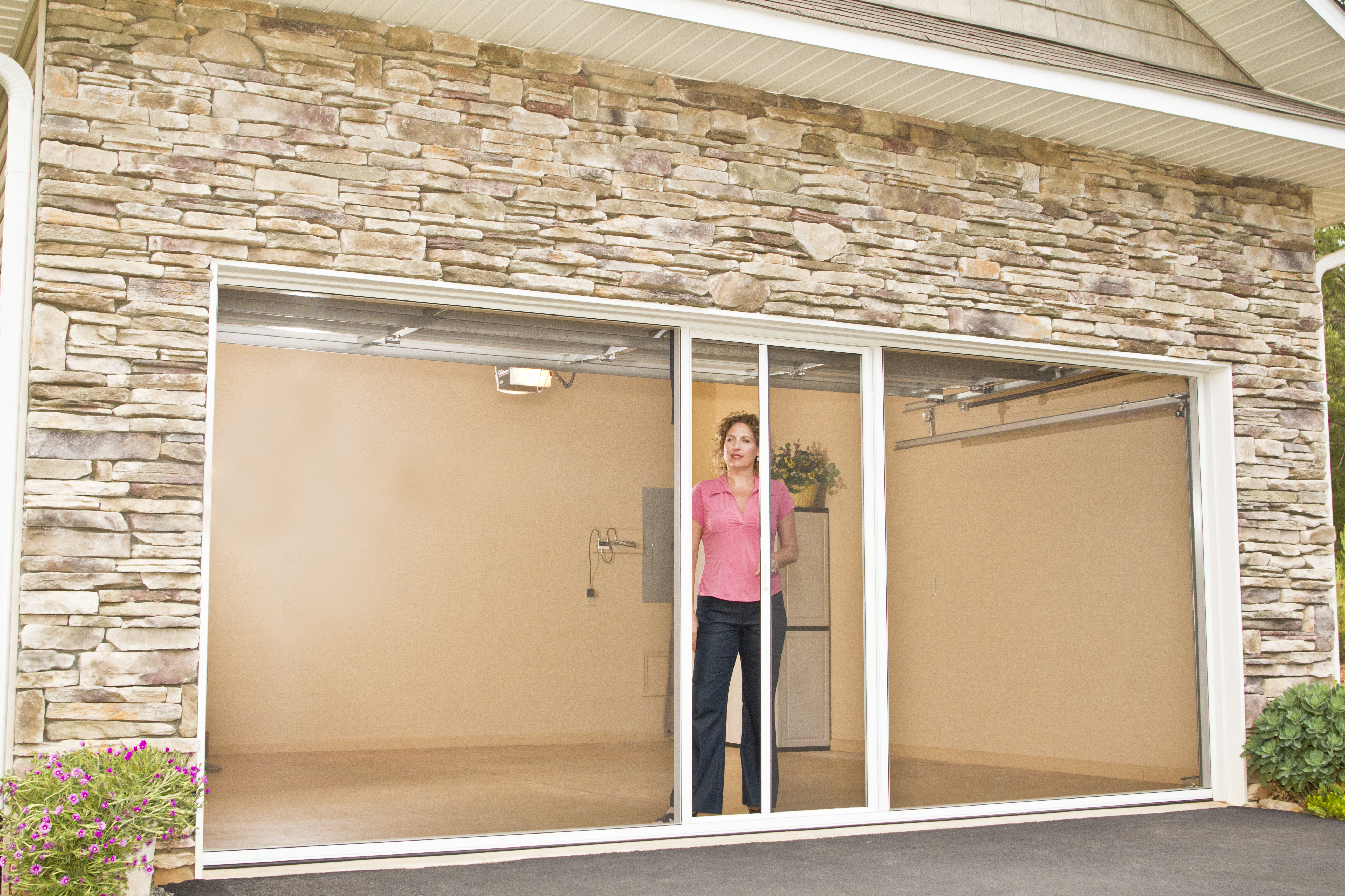 Lifestyle screens reinvents the garage makeover for Screen door screen