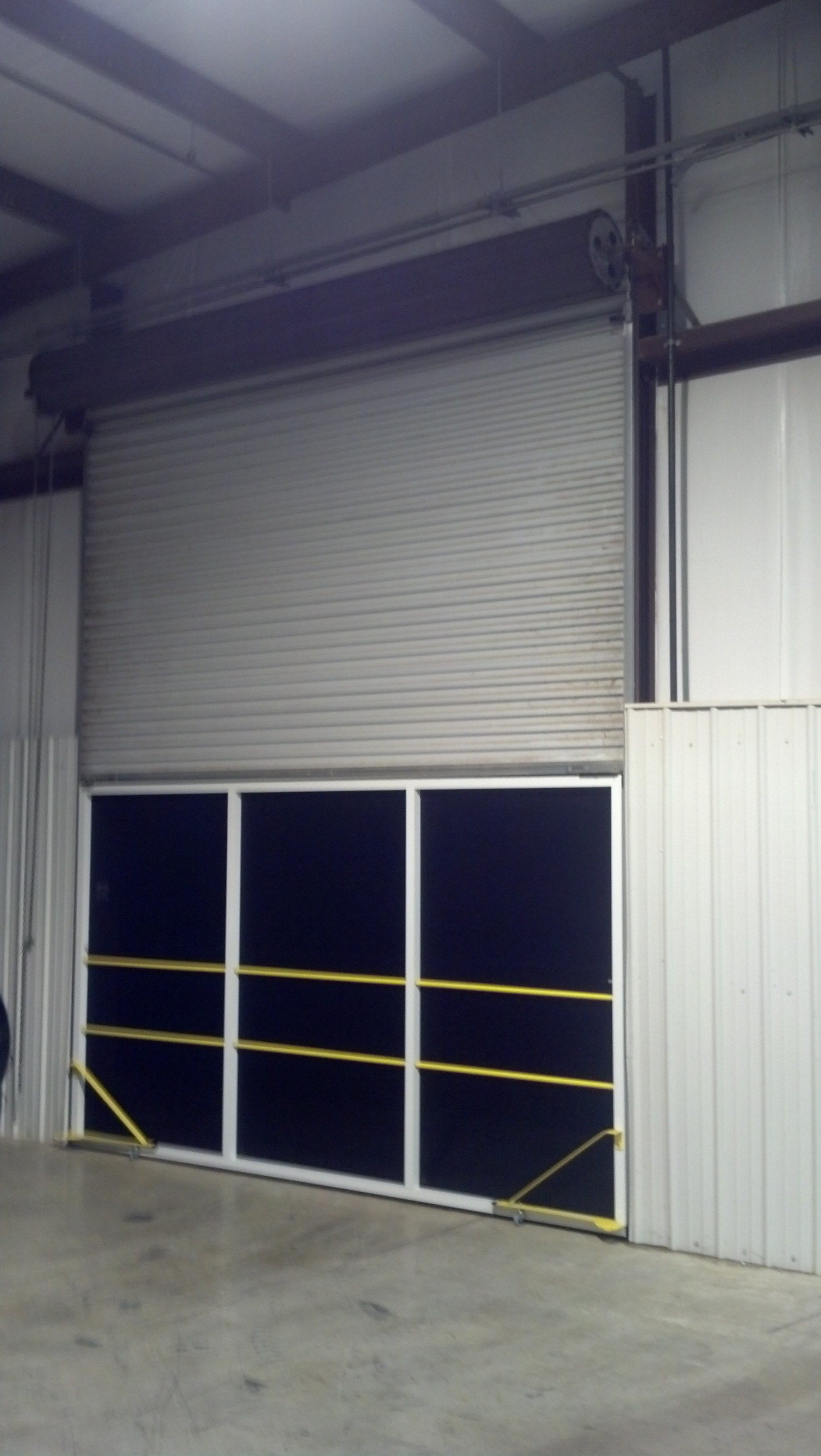 Rollaround Screens For Rollup Warehouse Doors From